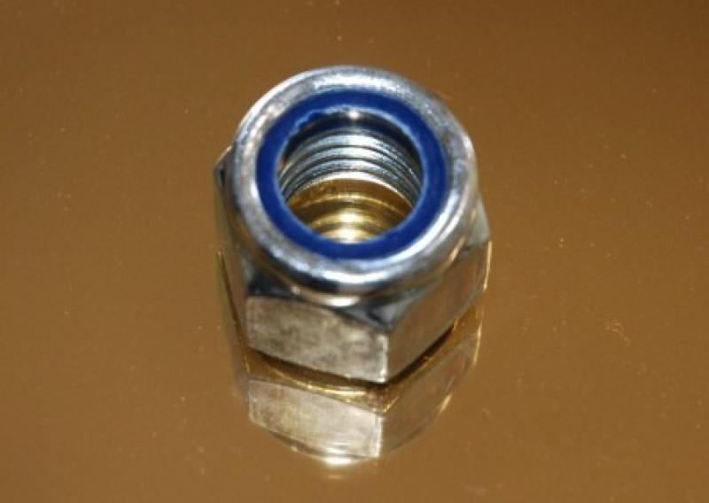 Nakrętki sześciokątne z wkładką poliamidową DIN985 PN82175