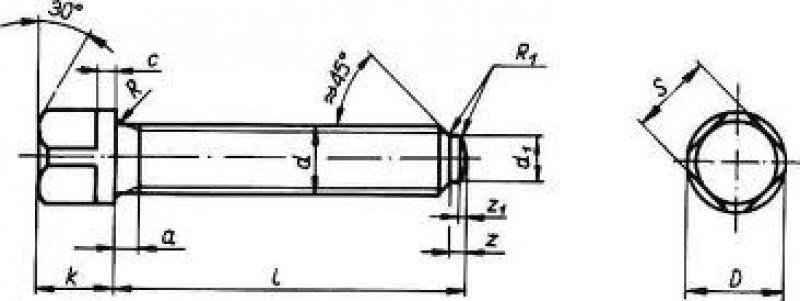 Śruba z łbem kwadratowym wieńcowym schemat