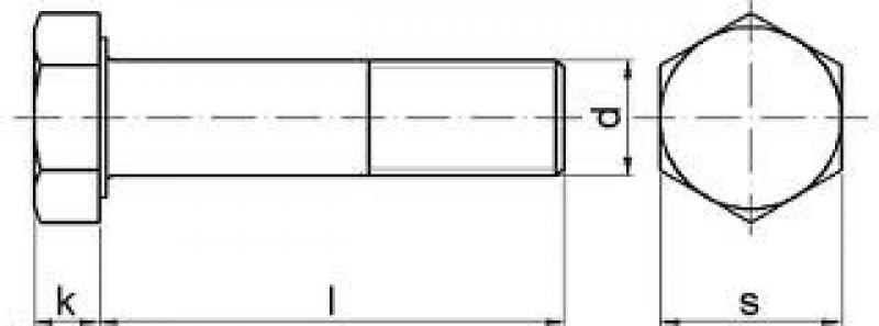 Śruba do połączeń sprężanych HV schemat